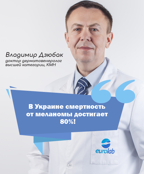 Доктор дерматовенеролог высшей категории, КМН Дзюбак Владимир Евгеньевич
